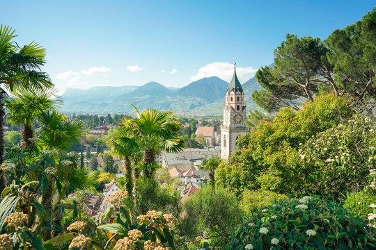 Stadtansicht von Meran, Südtirol