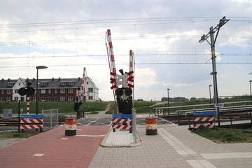 Rail track for Hoekse Lijn in Maassluis for the RET metro line after rebuild from train track