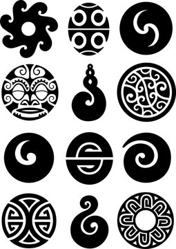 Collection of polynesian symbols and designs