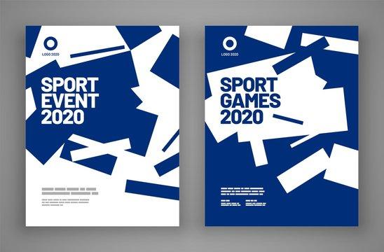 Poster layout design for sport event, invitation, awards or championship. Sport background.