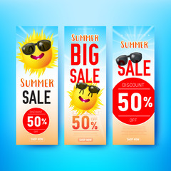 Collection fo Summer vertical banner