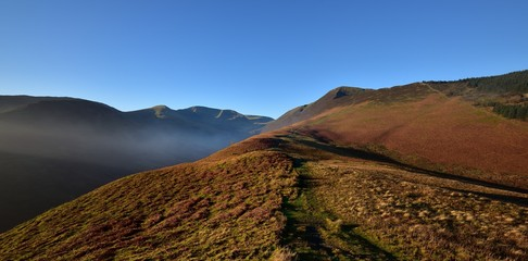 Green tracks to the summit of Grisedale Pike