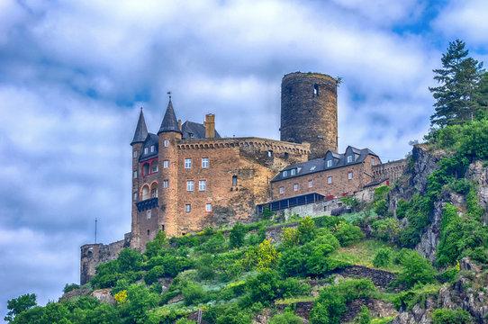Burg Katz in St. Goarshausen, Mittelrheintal, Deutschland