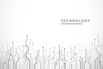 Fototapeta Circuit board technology background. Hardware communication concept. Science and technology design. Vector illustration obraz
