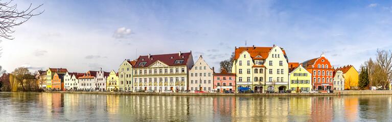 Ufer, Isar, Landshut, Deutschland