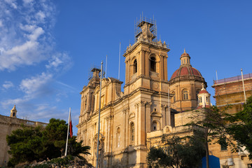 St Lawrence Church in Birgu, Malta