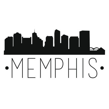 Memphis Tennessee Skyline. Silhouette City Design Vector Famous Monuments.