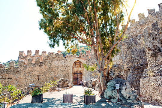 Alley in front of the fortress in Alanya