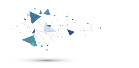 sfondo, collegamenti, triangoli