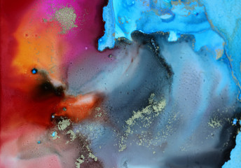 Marble texture.Art Abstract paint blots background. Alcohol ink colors.