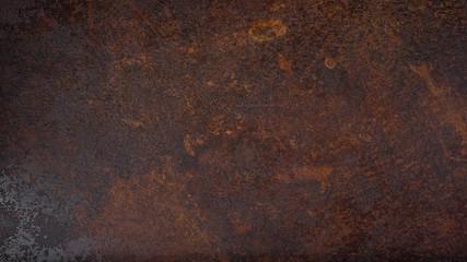 Rusty grunge dark metal texture background