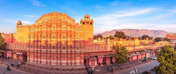 Hawa Mahal palace, full view panorama, Jaipur, Rajasthan, India Fotomurales