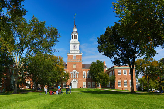 The Baker-Berry Library on the campus of Dartmouth College. Dartmouth College is a private Ivy League research university in Hanover, New Hampshire