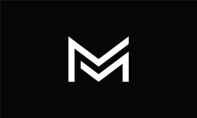 Letter MM Logo Monogram Double M Logo