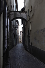 Canvas Prints Narrow alley narrow alley in old town