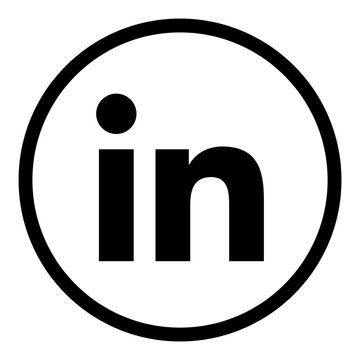 ewni11 EditoralWebNewIcon ewni - social media - LinkedIn business contact icon. - LinkedIn web graphic on white paper for editoral - square xxl g9037, BADEN WÜRTTEMBERG / GERMANY - FEB 09, 2020