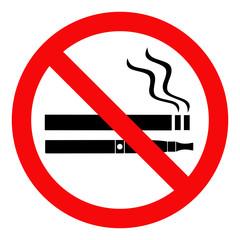 Obraz zakaz palenia papierosów i e-papierosów - fototapety do salonu