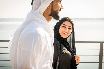 Arabic couple dating in Dubai