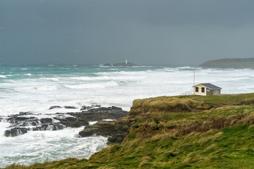 Storm at Gwithain Cornwall England
