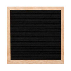 Empty black letterboard isolated on white background. Design mockup
