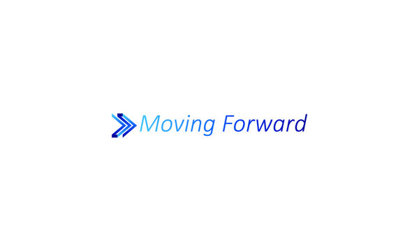 Abstract business, blue initial M, Transport logistic logo of express arrow moving forward for courier delivery, transportation, shipping service or technology and sains. Vector designs template.