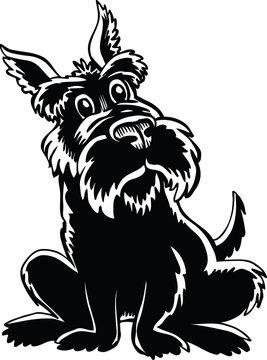 Scottish Terrier Cartoon Vector Illustration