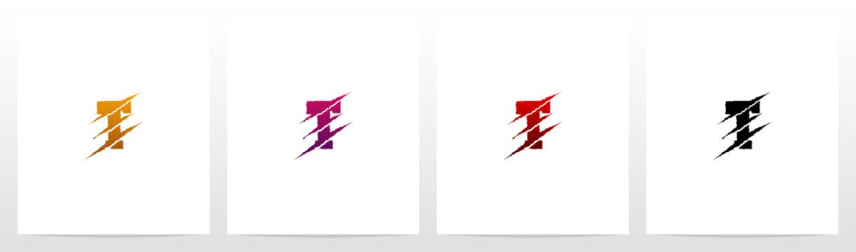 Claw Marks On Letter Logo Design T