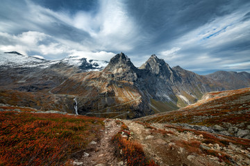 Beautiful mountains landscape during autumn