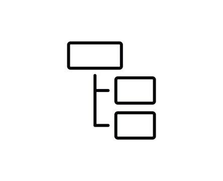 Hierarchy line icon