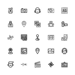 Editable 25 picture icons for web and mobile