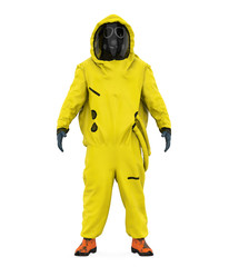 Hazmat Suit Isolated