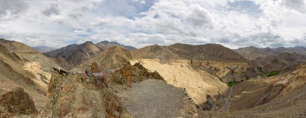Panoramic View of Lamayuru mountains, Ladakh, India