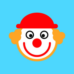Clown jester icon,  joker face vector