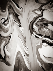 Brown grunge abstract painting with smooth lines. Marble vintage texture art background. Sepia...
