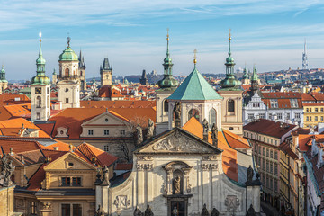 Printed roller blinds Eastern Europe Aerial view of old town in Prague. Czech Republic.