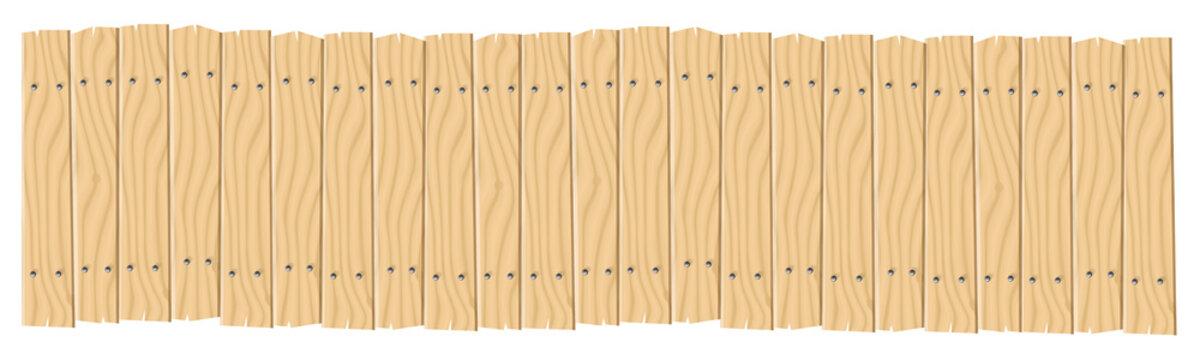 Wide Wooden Planks Banner Background
