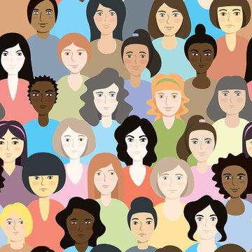 Modern Vector Illustration Of Feminist Women
