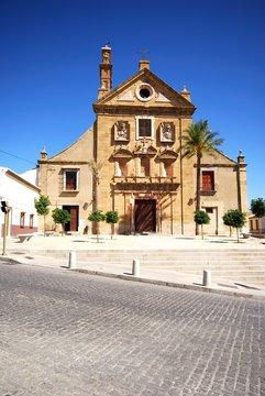 Front view of La Trinidad Church, Antequera, Spain.