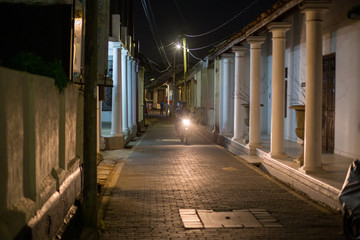 Small street in Galle Fort, Sri Lanka