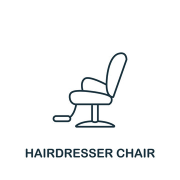 Hairdresser Chair icon from barber shop collection. Simple line element Hairdresser Chair symbol for templates, web design and infographics