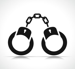 Vector handcuffs icon black design