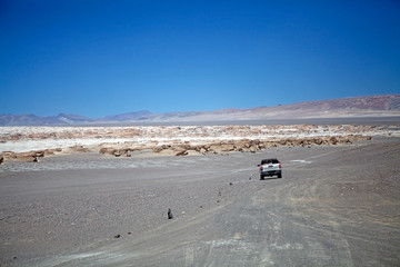 The trail to the pumice stone field at the Puna de Atacama, Argentina
