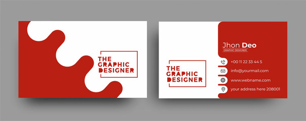 Business Card - Creative and Clean Modern Business Card Template. Wall mural