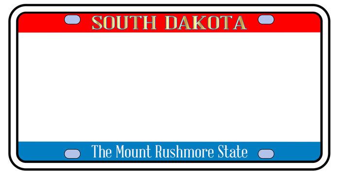 Blank South Dakota License Plate