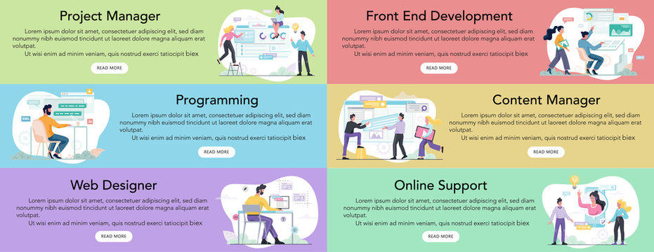 Modern web business service advert banner or website header.
