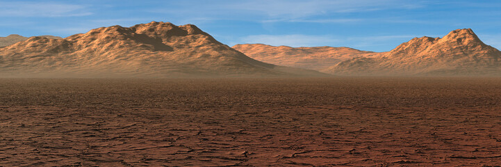 desert landscape, climate change crisis,  global warming impact on nature