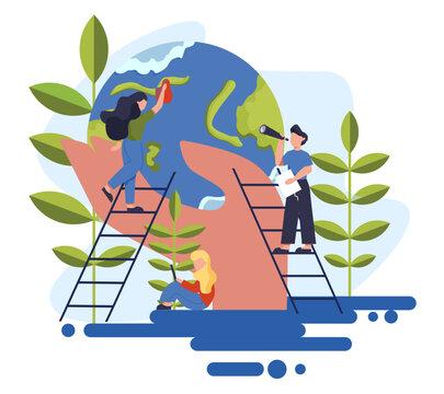 Keep Earth clean idea