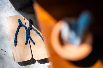 Geta japanese wooden clogs footwear Wall mural