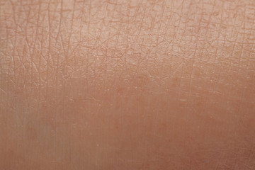Hydrated skin, details of the texture of the epidermis of a young woman after a treatment with moisturizing cream