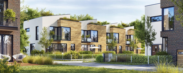 Beautiful modern homes. Luxury townhouses
